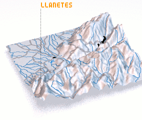 3d view of Llanetes