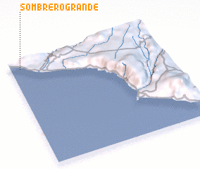 3d view of Sombrero Grande