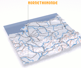 3d view of Morne Thomonde