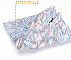 3d view of Caño Amarillo