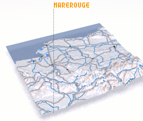 3d view of Mare Rouge