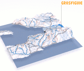 3d view of Gros Figuie