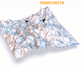 3d view of Pie de Cuesta