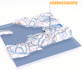 3d view of Grande Savane
