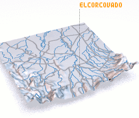 3d view of El Corcovado