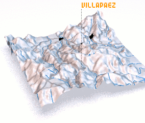 3d view of Villa Páez