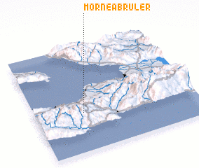 3d view of Morne à Brûler