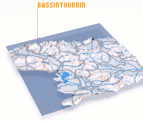 3d view of Bassin Tournin