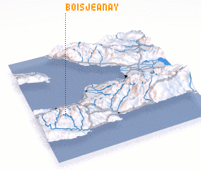 3d view of Bois Jeanay