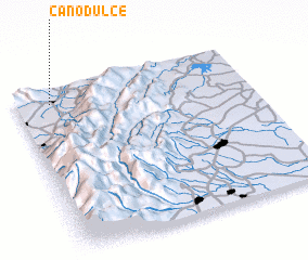 3d view of Caño Dulce