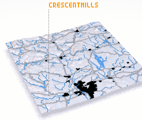 3d view of Crescent Mills