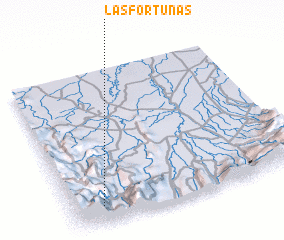 3d view of Las Fortunas