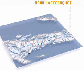 3d view of Mouillage Fouquet
