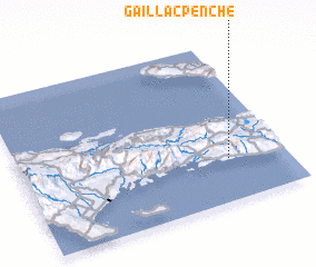 3d view of Gaillac Penché