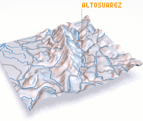 3d view of Alto Suárez