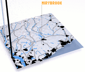3d view of Miry Brook