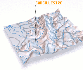 3d view of San Silvestre