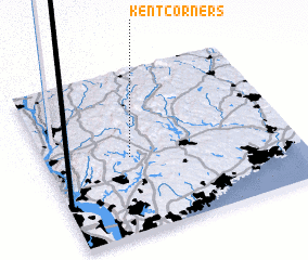 3d view of Kent Corners