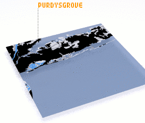 3d view of Purdys Grove
