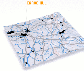 3d view of Canoe Hill
