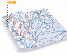 3d view of Milán