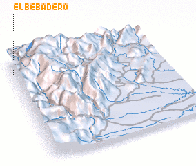 3d view of El Bebadero