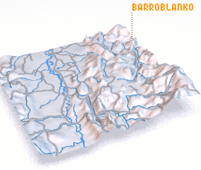 3d view of Barro Blanko