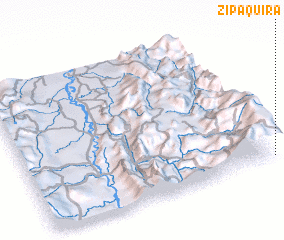 3d view of Zipaquirá