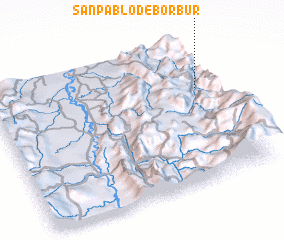 3d view of San Pablo de Borbur