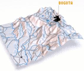 Bogotá (Colombia) map - nona.net
