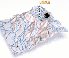 3d view of La Isla