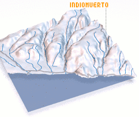 3d view of Indio Muerto