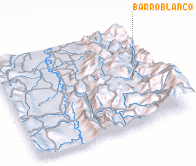 3d view of Barro Blanco