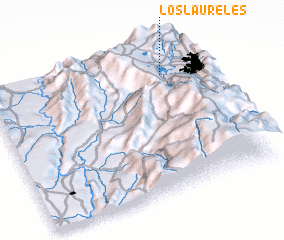 3d view of Los Laureles