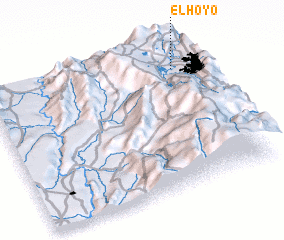 3d view of El Hoyo