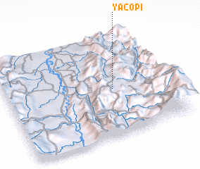 3d view of Yacopí