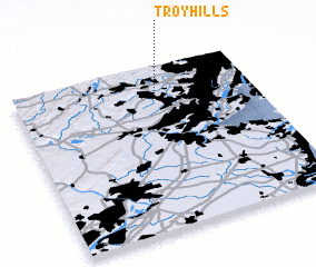 3d view of Troy Hills