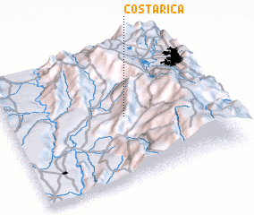3d view of Costa Rica