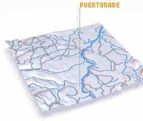 3d view of Puerto Nare