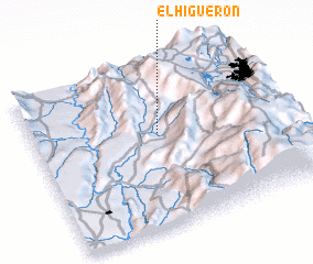 3d view of El Higuerón