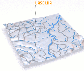3d view of La Selva
