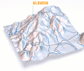 3d view of Albania