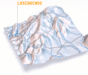 3d view of Los Cauchos