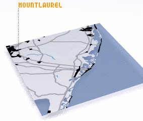 3d view of Mount Laurel