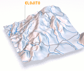 3d view of El Ojito