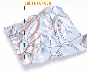 3d view of Santa Teresa