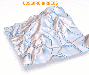 3d view of Los Guacharacos