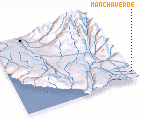 3d view of Mancha Verde