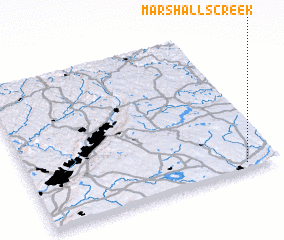 3d view of Marshalls Creek