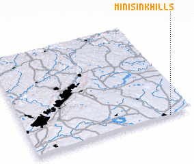 3d view of Minisink Hills
